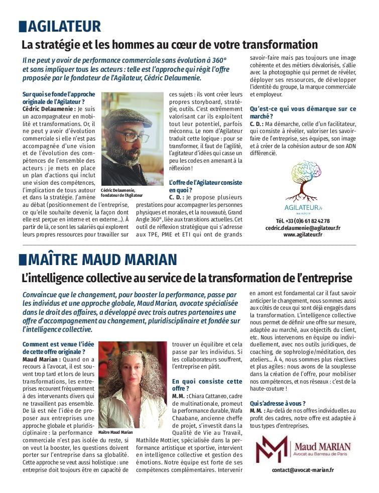 Le Figaro - cahier partner - septembre 2021 - performance commerciale