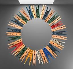 pinces à linge utilisée pour le design thinking